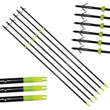 "6Pc IRQ Archery Hunting Fishing Arrow Bowfishing For Slingbow 34"" Fiberglass Tip"