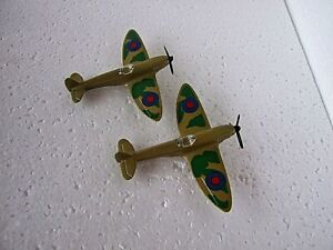 2 X Matchbox Made in England Spitfire New condition old stock 1973