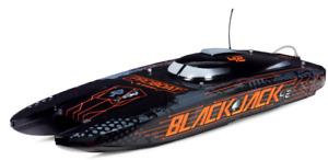 """Proboat Blackjack PRB08043T1 8S Brushless Catamaran 42"""" Boat Black"""