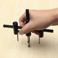 Adjustable Metal Wood Circle Cutter Kit Hole Saw Drill Bit Tool 30-120mm