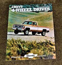 VTG 1973 ADV 1974 Chevy 4 Wheel Drives Brochure Pickup Suburban Blazer NM