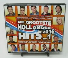 DE GROOTSTE HOLLANDSE HITS 2016: DEEL 1, 2-DISC MUSIC CD SET, 32 DUTCH TRACKS