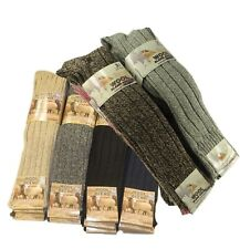 12 Women Chunky Long Wool Boot Socks with Thermal Heavy Duty Work Socks,Size 4-7