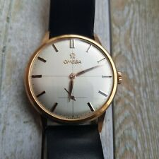 18k Solid Gold Omega Cal 268 Crosshair Man's Watch With Original Box