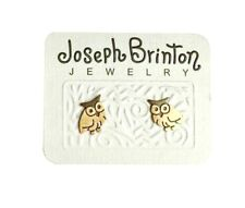 "0.25"" Drop Tiny Owl Post Earrings By Joseph Brinton Hypoallergenic Made in USA"