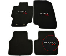 For 04-08 Acura Tl Sedan Floor Mats Carpets Front & Rear Nylon Black w/ Acura Tl