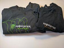 Monster Energy Drink Black Shirts Men Size XL - Green Outline/Older Orange Khaos