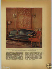 1927 PAPER AD Eagle Ottawa Leather Furniture Commercial Printing Award Winner