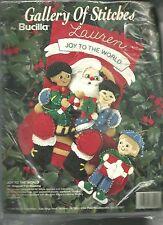 BUCILLA JOY TO THE WORLD,CHRISTMAS,FELT HOLIDAY STOCKING KIT,1994 MPN 33395