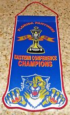 NHL FLORIDA PANTHERS BLOCKBUSTER 1996 EASTERN CON CHAMPIONS COMMEMORATIVE BANNER