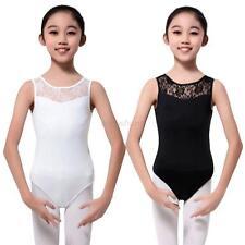 4-15 Y Girl Kids Sleeveless Floral Leotard Ballet Gymnastics Dancewear Tops New
