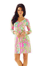 NWT Lilly Pulitzer Flamingo Pink Southern Charm Palmetto Dress, Sz S, $98
