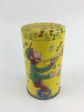 Vintage 1995 Schylling Tin Litho Curious George Twisting Tins Cans Toy Decor