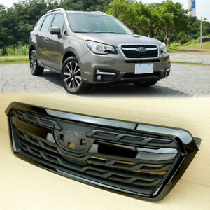 New Fit SUBARU FORESTER Matte Black & Gloss Black 2014-2018 Front Grille ABS