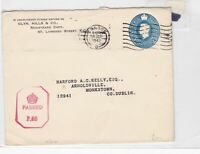 london to dublin 1942 censor stamps cover ref 8620