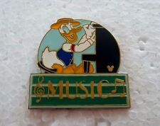*~*DISNEY WDW CAST LANYARD DONALD DUCK MUSIC MGM PARKING SIGN PIN*~*