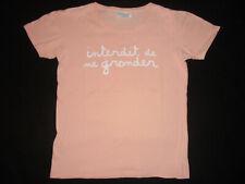 INTERDIT DE ME GRONDER T-Shirt Saumon Fille 14 ans