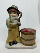 Christmas Luvkins Porcelain Candle Holder Jasco Taiwan Votive 1978
