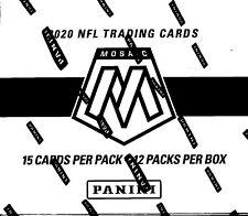 2020 Panini Mosaic Football sealed cello box 12 packs of 15 NFL cards