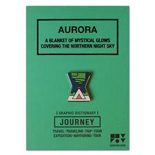 Journey Aurora Pin Badge Brooch Pins Jewelery Enamel Black Nickel