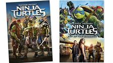 2 PACK PART 1 & 2 Teenage Mutant Ninja Turtles: Out of the Shadows DVD COMBO !
