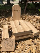 Custom Engraved Cedar Squirrel Bird Picnic Table Feeder Handmade