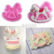 Rocking Horse Silicone Fondant Cake Mould Chocolate Icing Decor Mold Sugarcraft