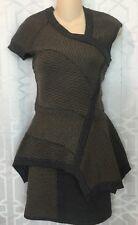 Yigal Azrouel Dress Gray And Tan Sleeveless Knit NWT $895 Size S