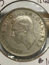 1945 George VI Great Britain United Kingdom Half Crown Silver Coin