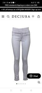 Decjuba Riley ice grey Jeans Sz 12 EUC