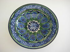 Tashkent Uzbekistan Hand Painted Pottery Bowl, Copy Of 17th Century, Signed