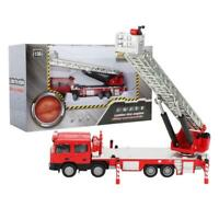 KaiDiWei 1:50 Scale Aerial Ladder Truck Model Vehicle Fire Fighting Car Kids Toy