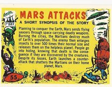 MARS ATTACKS! ARCHIVES 1994 FIRST DAY CARD #55 CHECKLIST! + 2 WRAPPERS