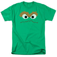 SESAME STREET OSCAR THE GROUCH FACE Licensed Men's Graphic Tee Shirt SM-5XL