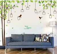 Family Tree Photo Frame Bird Wall Stickers Vinyl Art Decal Home Decor Removable