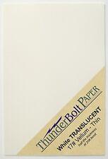 100 Sheets White Translucent Vellum Paper for Photo & Invitation Tissue 17# 4X6