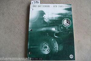 2002 2003 Bombardier One Day School ATV Service Manual