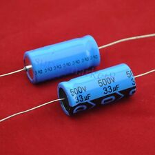 Axial Electrolytic Capacitor 33uf 500V 18x41mm Polarized for Tube Amp DIY 10pcs
