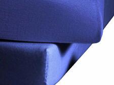 Jersey MICROFASER Spannbettlaken Laken 90 x 190 - 100 x 200cm ROYAL Blau