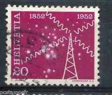 SUISSE - 1952, timbre 519, ESPACE RADIO, oblitéré
