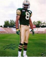 Kamau Peterson CFL Signed Photo Edmonton Eskimos RETRO