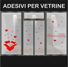 wall stickers adesivo san valentino vetrofania vetrofanie cuori vetri muri bar