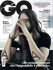 GQ Italy January 2014, Jared Leto,Matthew McConaughey,Idris Elba,Robert Redford