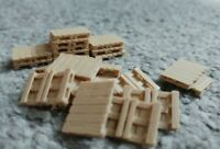 Real Wood Pallets Model Railway Scenery 00 Gauge Euro Pallet Ready Made 24 Pack