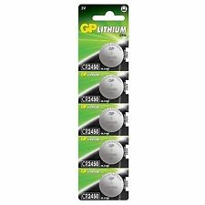 GP Lithium Cell Cr2450 Dl2450 Batteries X 5