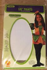 New White Seamless Costume Tights Girls Large 75-100 lbs