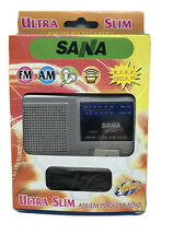 Vintage SANA SA-900 Portable Antenna Slim Pocket Mini AM/FM Radio Receiver NEW