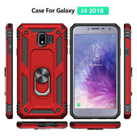 For Samsung Galaxy J2 J4 J5 J6 J7 Military Armor Case Magnetic Ring Holder Cover