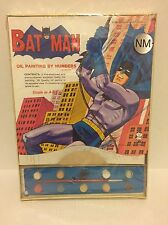 VINTAGE BATMAN Oil Painting by Numbers UNOPENED Hasbro 1965