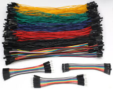 JUMPER WIRES 10 or 20cm DUPONT TERMINAL CONNECTORS MALE & FEMALE M/M M/F F/F Pi